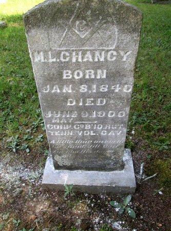 CHANCEY (VETERAN CSA), MATHEW L. - Hamilton County, Tennessee | MATHEW L. CHANCEY (VETERAN CSA) - Tennessee Gravestone Photos