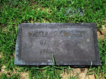 CHANCEY, WALTER T. - Hamilton County, Tennessee | WALTER T. CHANCEY - Tennessee Gravestone Photos