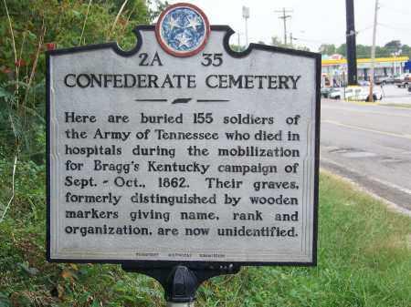 *CONFEDERATE HISTORICAL MARKER,  - Hamilton County, Tennessee |  *CONFEDERATE HISTORICAL MARKER - Tennessee Gravestone Photos