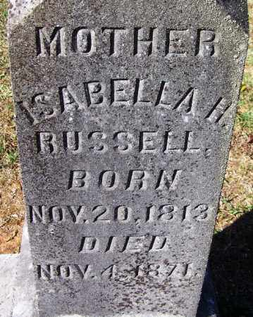 RUSSELL, ISABELLA H - Hamilton County, Tennessee   ISABELLA H RUSSELL - Tennessee Gravestone Photos