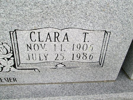 BOWLIN, CLARA T. (CLOSE UP) - Hancock County, Tennessee | CLARA T. (CLOSE UP) BOWLIN - Tennessee Gravestone Photos