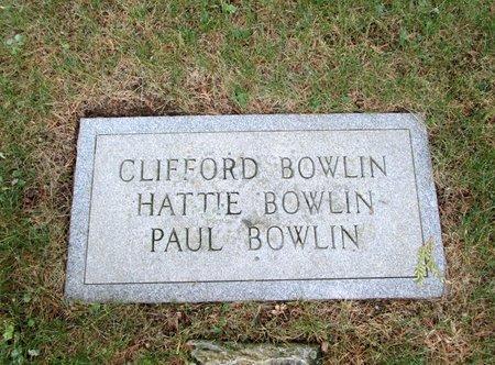 BOWLIN, CLIFFORD - Hancock County, Tennessee   CLIFFORD BOWLIN - Tennessee Gravestone Photos
