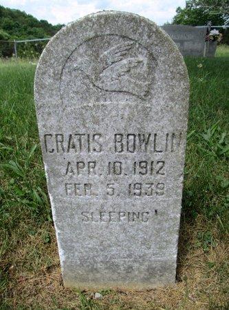BOWLIN, CRATIS - Hancock County, Tennessee | CRATIS BOWLIN - Tennessee Gravestone Photos