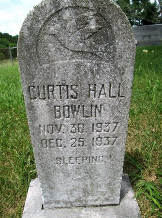 BOWLIN, CURTIS HALL - Hancock County, Tennessee | CURTIS HALL BOWLIN - Tennessee Gravestone Photos