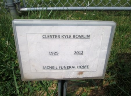 BOWLIN, CLESTER KYLE - Hancock County, Tennessee | CLESTER KYLE BOWLIN - Tennessee Gravestone Photos