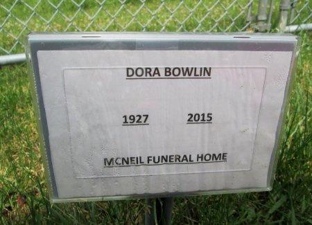 BOWLIN, DORA - Hancock County, Tennessee | DORA BOWLIN - Tennessee Gravestone Photos