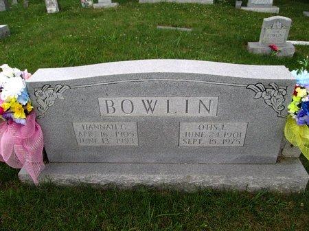 BOWLIN, HANNAH G. - Hancock County, Tennessee | HANNAH G. BOWLIN - Tennessee Gravestone Photos