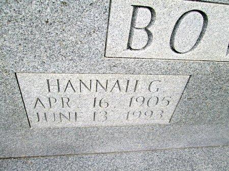 BOWLIN, HANNAH G. (CLOSE UP) - Hancock County, Tennessee   HANNAH G. (CLOSE UP) BOWLIN - Tennessee Gravestone Photos