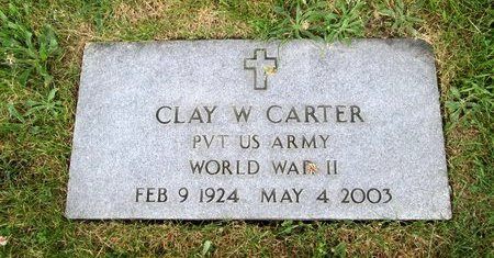 CARTER (VETERAN WWII), CLAY W. - Hancock County, Tennessee | CLAY W. CARTER (VETERAN WWII) - Tennessee Gravestone Photos