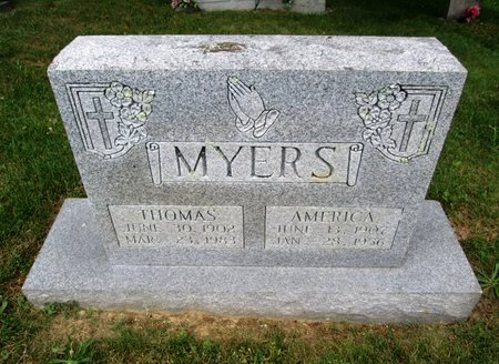 MYERS, AMERICA - Hancock County, Tennessee | AMERICA MYERS - Tennessee Gravestone Photos