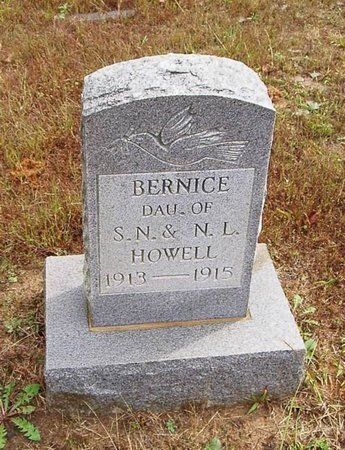 HOWELL, BERNICE - Hardeman County, Tennessee | BERNICE HOWELL - Tennessee Gravestone Photos