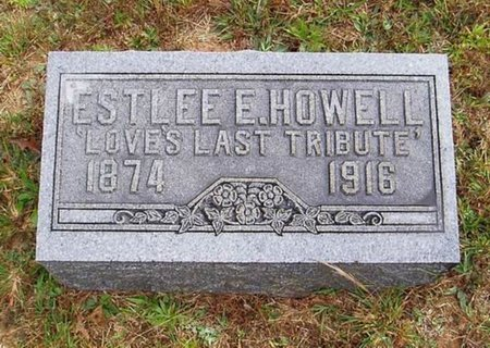 HOWELL, ESTELEE E. - Hardeman County, Tennessee | ESTELEE E. HOWELL - Tennessee Gravestone Photos