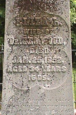 HASKINS WOOD, ELIZA LOUISA (CLOSE UP) - Hardeman County, Tennessee | ELIZA LOUISA (CLOSE UP) HASKINS WOOD - Tennessee Gravestone Photos