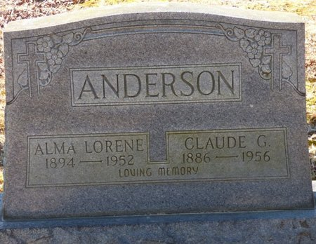 ANDERSON, CLAUDE G - Hardin County, Tennessee | CLAUDE G ANDERSON - Tennessee Gravestone Photos