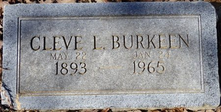 BURKEEN, CLEVE L - Hardin County, Tennessee | CLEVE L BURKEEN - Tennessee Gravestone Photos
