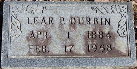 DURBIN, LEAR P - Hardin County, Tennessee | LEAR P DURBIN - Tennessee Gravestone Photos