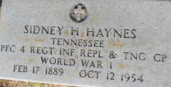 HAYNES  (VETERAN WWI), SIDNEY H - Hardin County, Tennessee | SIDNEY H HAYNES  (VETERAN WWI) - Tennessee Gravestone Photos