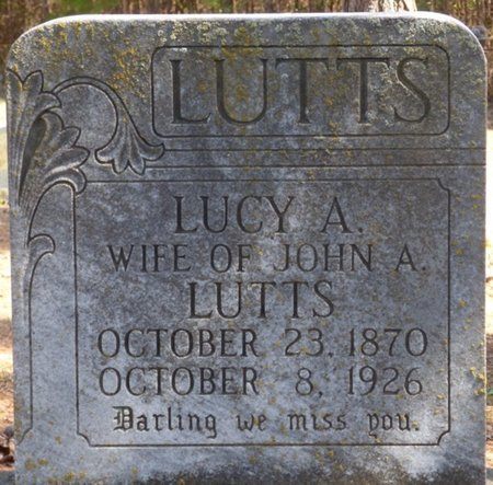 LUTTS, LUCY A - Hardin County, Tennessee | LUCY A LUTTS - Tennessee Gravestone Photos