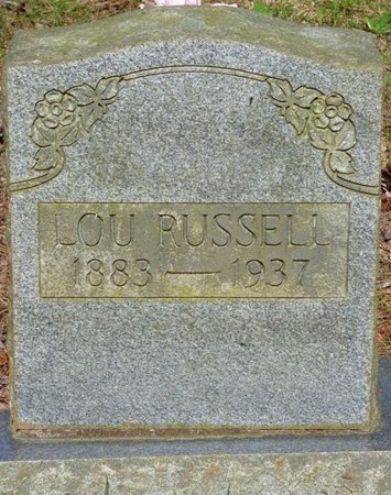 RUSSELL, LOU - Hardin County, Tennessee   LOU RUSSELL - Tennessee Gravestone Photos