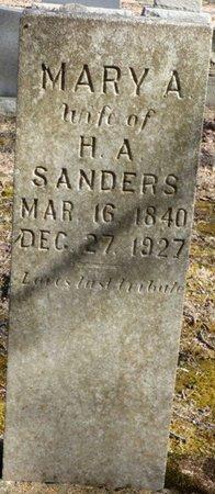 SANDERS, MARY A - Hardin County, Tennessee   MARY A SANDERS - Tennessee Gravestone Photos