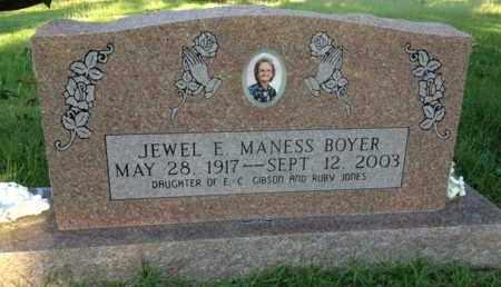 GIBSON BOYER, JEWEL E. MANESS - Henderson County, Tennessee | JEWEL E. MANESS GIBSON BOYER - Tennessee Gravestone Photos