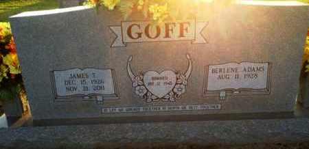 ADAMS GOFF, BERLENE - Henderson County, Tennessee | BERLENE ADAMS GOFF - Tennessee Gravestone Photos
