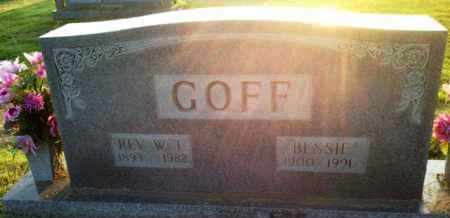 GOFF, REV W T - Henderson County, Tennessee | REV W T GOFF - Tennessee Gravestone Photos