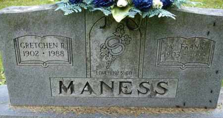 MANESS, GRETCHEN R - Henderson County, Tennessee | GRETCHEN R MANESS - Tennessee Gravestone Photos