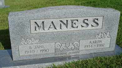 MANESS, B. JANE - Henderson County, Tennessee | B. JANE MANESS - Tennessee Gravestone Photos