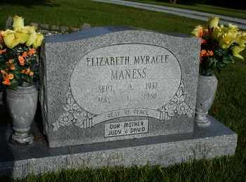 MYRACLE MANESS, ELIZABETH - Henderson County, Tennessee | ELIZABETH MYRACLE MANESS - Tennessee Gravestone Photos