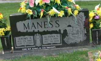 MANESS, ALANNA N - Henderson County, Tennessee | ALANNA N MANESS - Tennessee Gravestone Photos