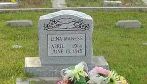 MANESS, LENA - Henderson County, Tennessee | LENA MANESS - Tennessee Gravestone Photos