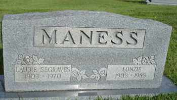 MANESS, LONZIE - Henderson County, Tennessee | LONZIE MANESS - Tennessee Gravestone Photos
