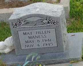 MANESS, MAY HELEN - Henderson County, Tennessee | MAY HELEN MANESS - Tennessee Gravestone Photos