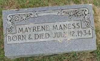 MANESS, MAYRENE - Henderson County, Tennessee | MAYRENE MANESS - Tennessee Gravestone Photos