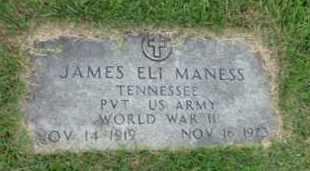 MANESS (VETERAN WWII), JAMES ELI - Henderson County, Tennessee | JAMES ELI MANESS (VETERAN WWII) - Tennessee Gravestone Photos