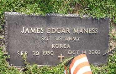 MANESS (VETERAN KOR), JAMES EDGAR - Henderson County, Tennessee   JAMES EDGAR MANESS (VETERAN KOR) - Tennessee Gravestone Photos