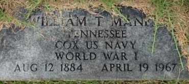 MANESS (VETERAN WWI), WILLIAM T - Henderson County, Tennessee   WILLIAM T MANESS (VETERAN WWI) - Tennessee Gravestone Photos