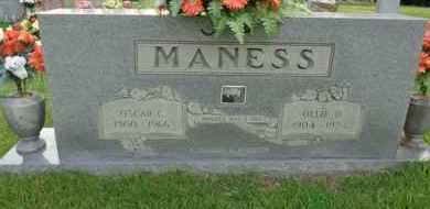 MANESS, OLLIE D - Henderson County, Tennessee | OLLIE D MANESS - Tennessee Gravestone Photos