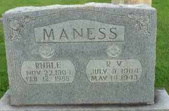 MANESS, RUBLE - Henderson County, Tennessee | RUBLE MANESS - Tennessee Gravestone Photos