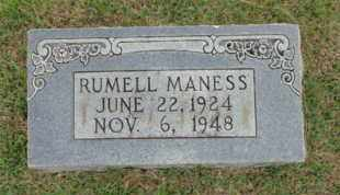 MANESS, RUMELL - Henderson County, Tennessee | RUMELL MANESS - Tennessee Gravestone Photos