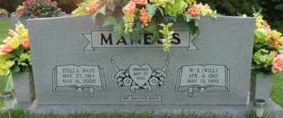 HAYS MANESS, STELLA - Henderson County, Tennessee | STELLA HAYS MANESS - Tennessee Gravestone Photos