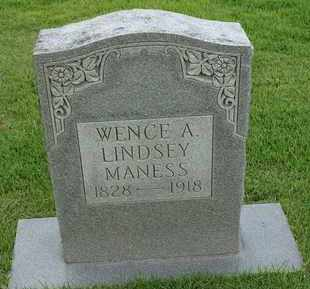 MANESS, WENCE A - Henderson County, Tennessee | WENCE A MANESS - Tennessee Gravestone Photos