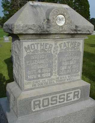 ROSSER, NANCY ELIZABETH - Henderson County, Tennessee | NANCY ELIZABETH ROSSER - Tennessee Gravestone Photos