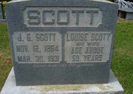 SCOTT, LOUISE - Henderson County, Tennessee | LOUISE SCOTT - Tennessee Gravestone Photos