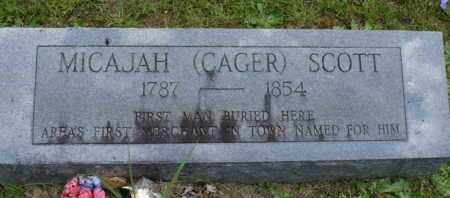 SCOTT, MICAJAH (CAGER) - Henderson County, Tennessee | MICAJAH (CAGER) SCOTT - Tennessee Gravestone Photos