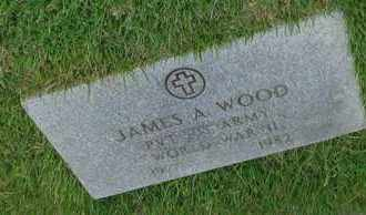 WOOD (VETERAN WWII), JAMES A - Henderson County, Tennessee | JAMES A WOOD (VETERAN WWII) - Tennessee Gravestone Photos
