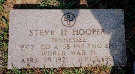 HOOPER  (VETERAN WWII), STEVE H - Henry County, Tennessee   STEVE H HOOPER  (VETERAN WWII) - Tennessee Gravestone Photos