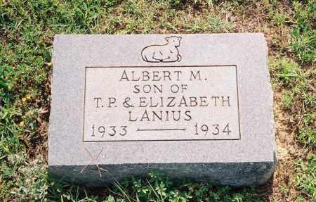 LANIUS, ALBERT M. - Henry County, Tennessee | ALBERT M. LANIUS - Tennessee Gravestone Photos