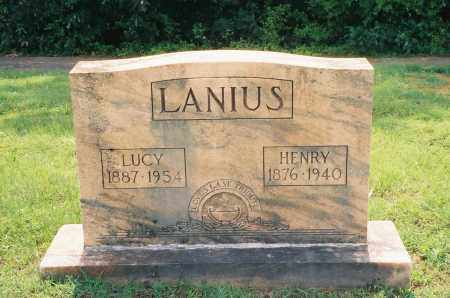 HALL LANIUS, LUCY ANN - Henry County, Tennessee | LUCY ANN HALL LANIUS - Tennessee Gravestone Photos